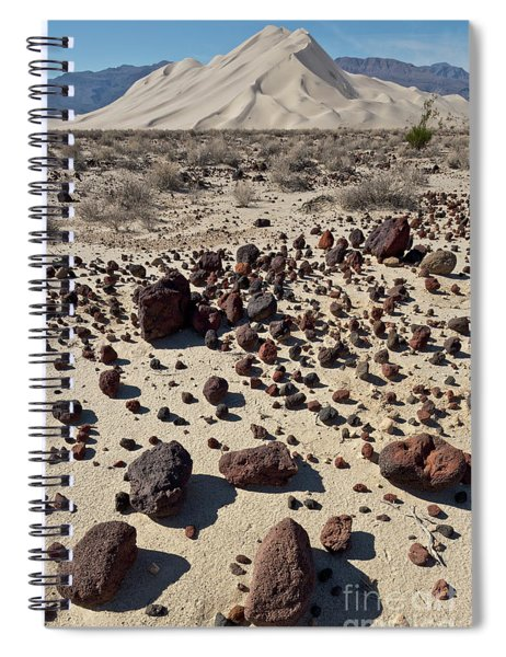 Death Valley Dunes And Rocks  Spiral Notebook