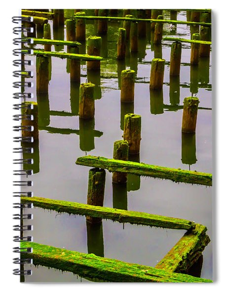 Decaying Old Dock Spiral Notebook