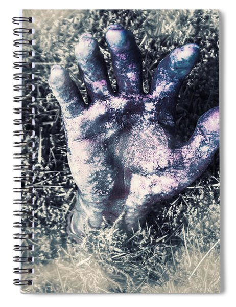Decaying Zombie Hand Emerging From Ground Spiral Notebook