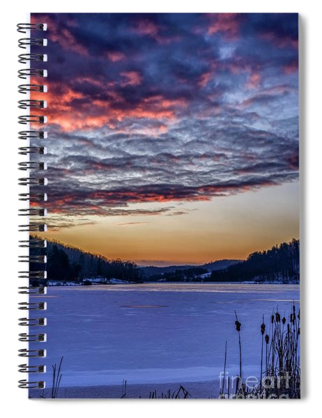 December Dawn On The Lake Spiral Notebook