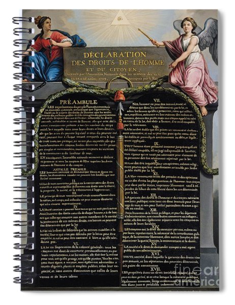 Declaration Of The Rights Of Man And Citizen Spiral Notebook