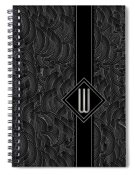Deco Jazz Swing Monogram ...letter W Spiral Notebook