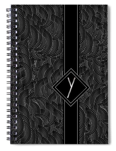 Deco Jazz Swing Monogram ...letter Y Spiral Notebook