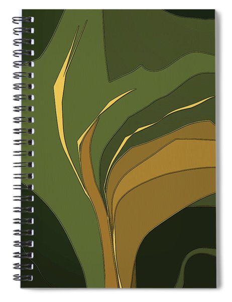 Spiral Notebook featuring the digital art Deco Tile by Gina Harrison