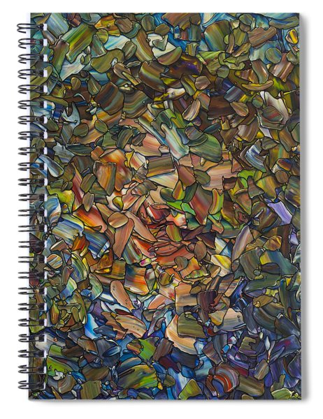 Deconstructed Portrait Of A Woman Spiral Notebook by James W Johnson