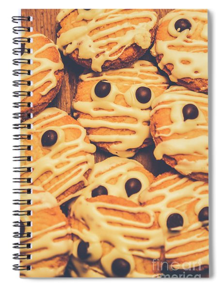 Decorated Shortbread Mummy Cookies Spiral Notebook