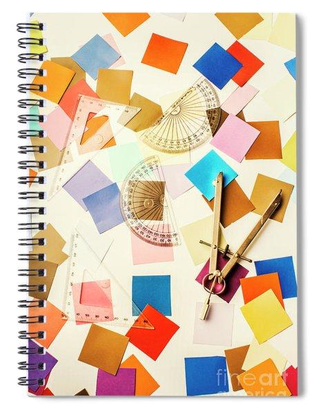 Decoration In Symmetry Spiral Notebook