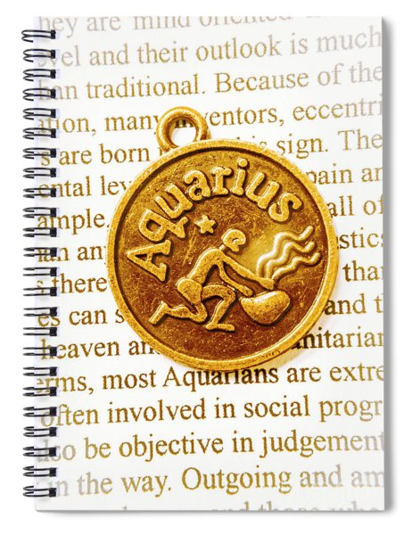 Decorative Aquarius Spiral Notebook