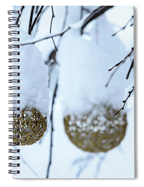 Decorative Balls In The Snow Spiral Notebook