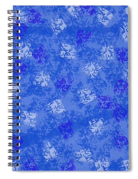Decorative Blueprint Spiral Notebook
