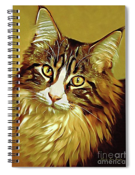 Decorative Digital Painting Maine Coon A71518 Spiral Notebook