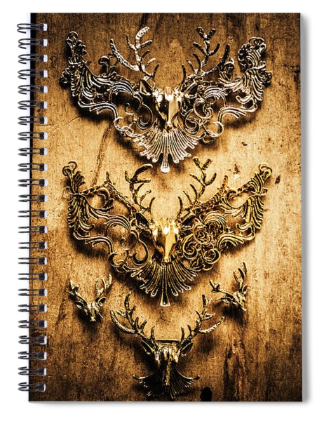 Decorative Moose Emblems Spiral Notebook