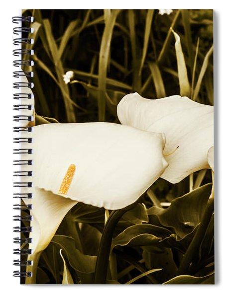 Decorative Spring Garden Spiral Notebook