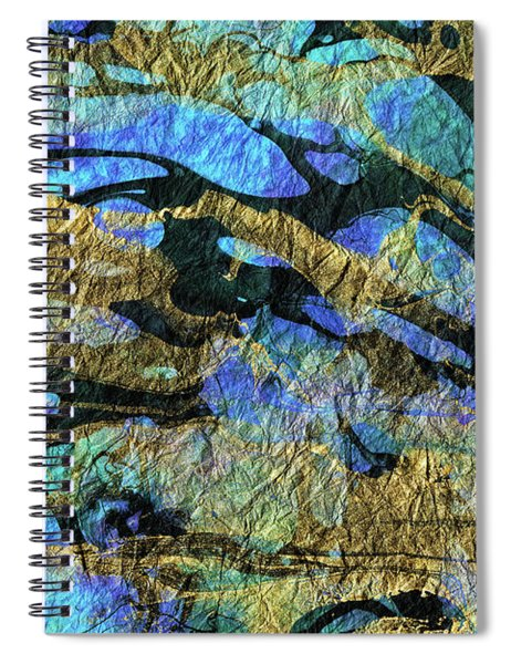 Deep Blue Abstract Art - Deeper Visions 1 - Sharon Cummings Spiral Notebook