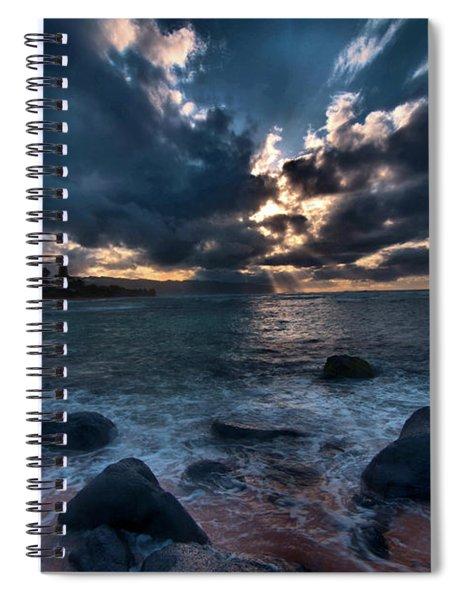 Deep Blue Sunset Spiral Notebook