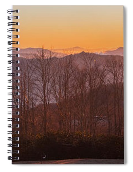 Deep Orange Sunrise Spiral Notebook