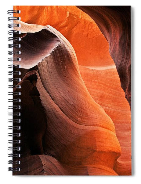Deep Red Glow Spiral Notebook