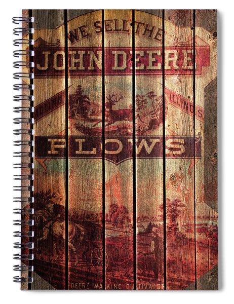 Deere Walking Cultivator Spiral Notebook
