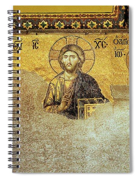 Deesis Mosaic Hagia Sophia-christ Pantocrator-the Last Judgement Spiral Notebook