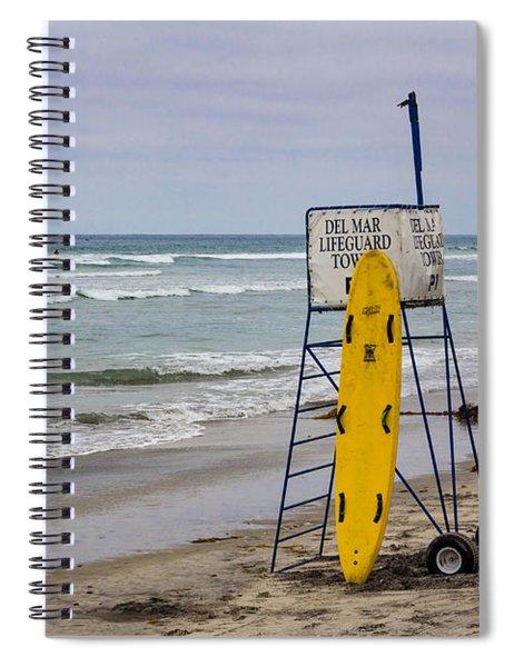 Del Mar Lifeguard Tower Spiral Notebook