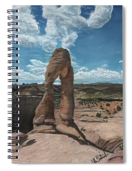 Delicate Arch At Arches Spiral Notebook
