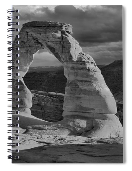 Delicate Arch Black And White Sunset Shadow Spiral Notebook