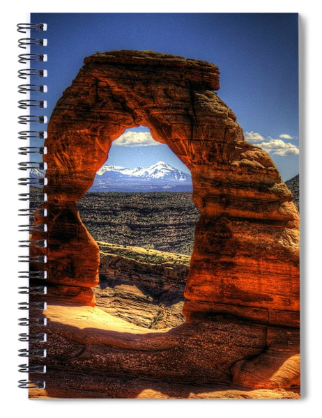Delicate Arch Framing La Sal Mountains Spiral Notebook