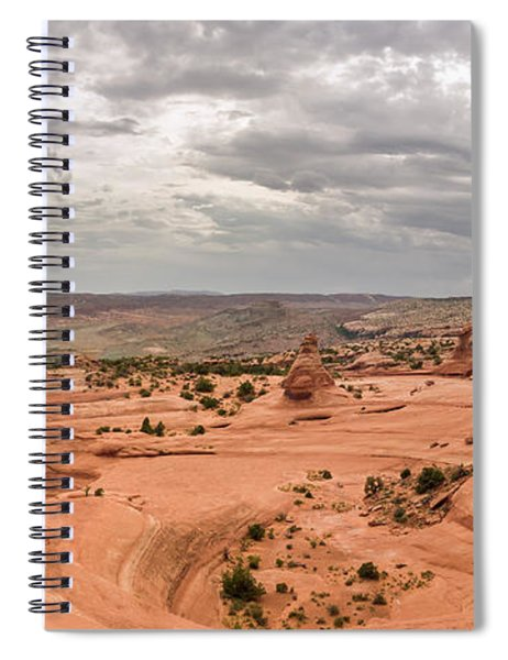 Delicate Arch Panoramic Spiral Notebook