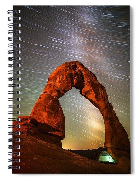 Delicate Arch Star Trails Spiral Notebook