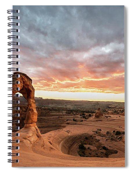 Delicate At Sunset Spiral Notebook