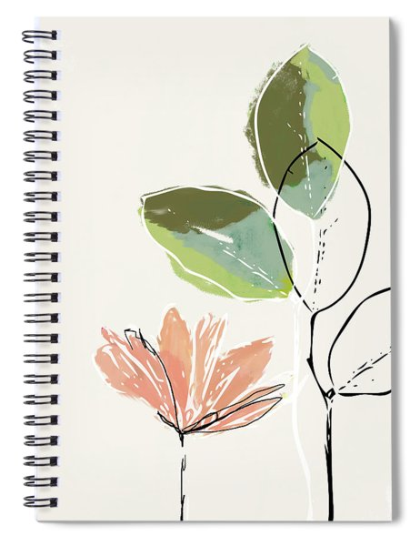 Delicate Flower- Art By Linda Woods Spiral Notebook