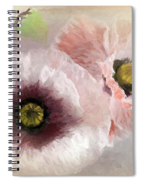 Delicate Pastel Poppies Spiral Notebook