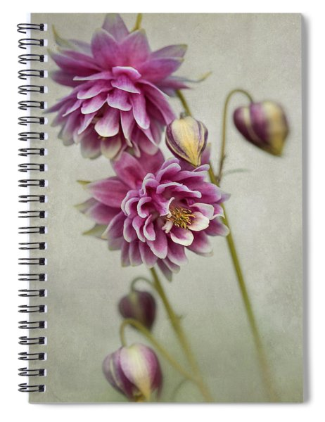 Delicate Pink Columbine Spiral Notebook