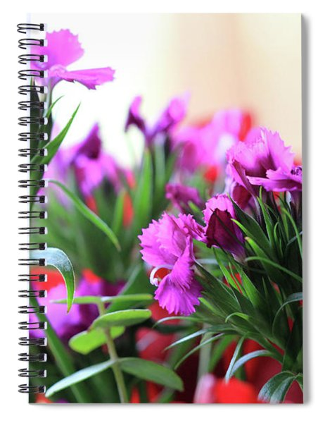 Delicate Purple Flowers Spiral Notebook