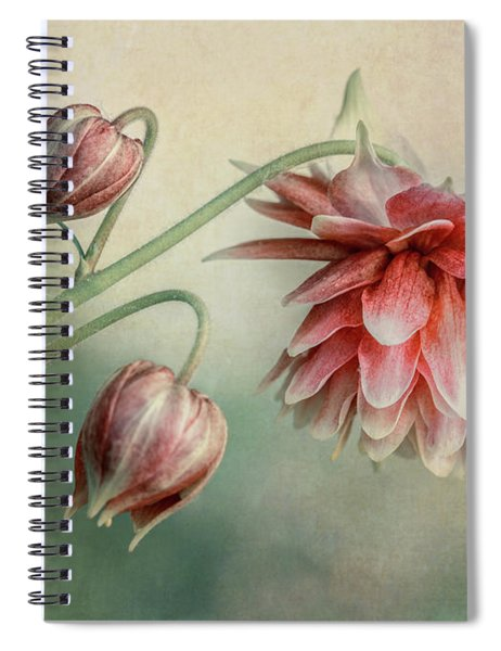 Delicate Red Columbine Spiral Notebook