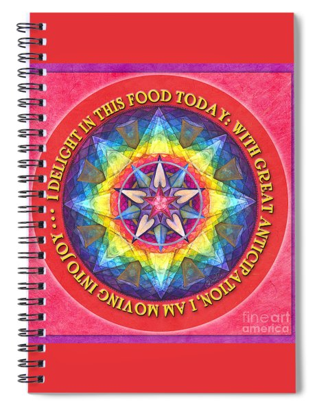 Delight In This Mandala Prayer Spiral Notebook