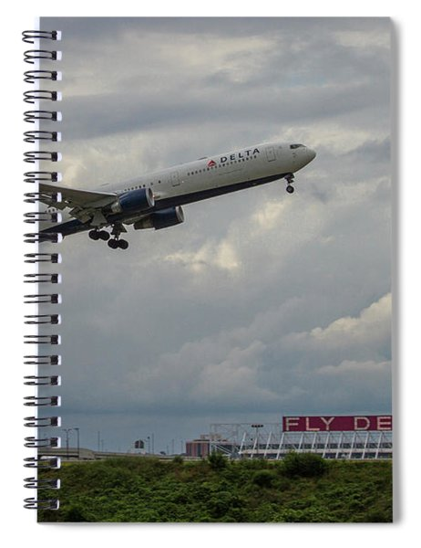 Delta Airlines Jet N836mh Hartsfield Jackson International Airport Art Spiral Notebook