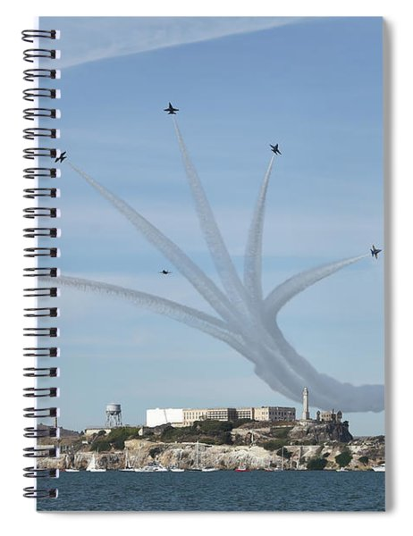 Delta Breakout Over Alcatraz Island Spiral Notebook