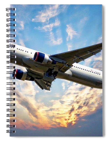 Delta Passenger Plane Spiral Notebook