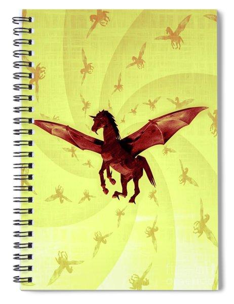 Demon Winged Horse Spiral Notebook