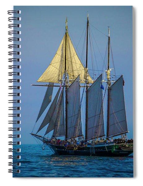 Denis Sullivan - Three Masted Schooner Spiral Notebook