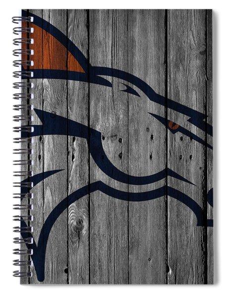Denver Broncos Wood Fence Spiral Notebook