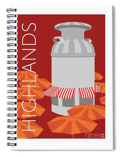 Denver Highlands/maroon Spiral Notebook