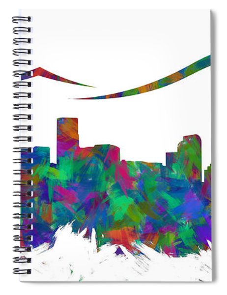 Denver Skyline Silhouette I Spiral Notebook