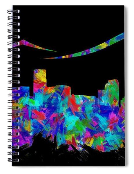 Denver Skyline Silhouette II Spiral Notebook