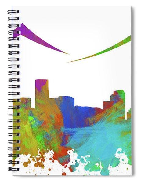 Denver Skyline Silhouette IIi Spiral Notebook