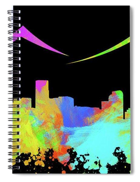 Denver Skyline Silhouette Iv Spiral Notebook