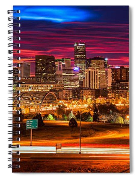 Denver Skyline Sunrise Spiral Notebook