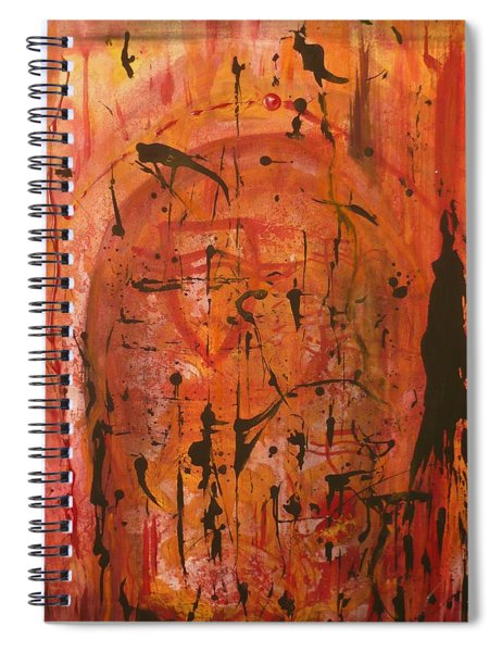 Departing Abstract Spiral Notebook