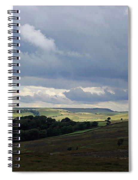 Derbyshire Landscape Peak District Spiral Notebook
